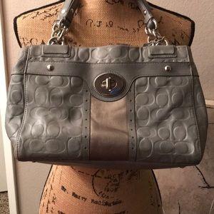 Authentic Signature Coach Signature Gray bag purse